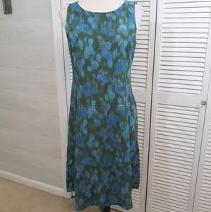 J. Jill crinkle tie dye dress sz 8 *W